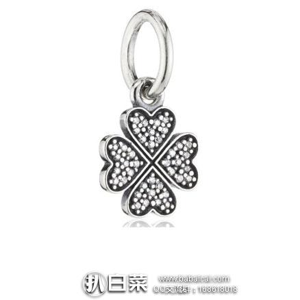 亚马逊海外购:Pandora 潘多拉 银质四叶草手链吊饰 降至¥184.83,凑单直邮免运费,含税到手约¥207