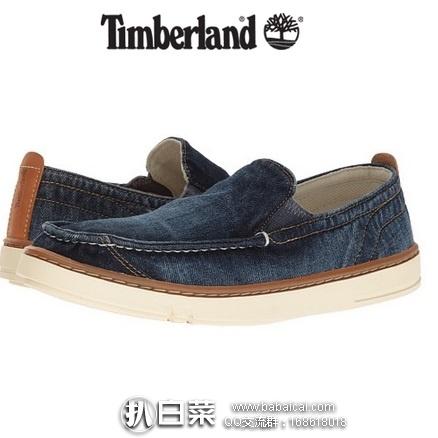 6pm:Timberland 天木兰 男士帆布一脚蹬 原价$85,现历史低价$29.99,到手¥300 便宜,两色可选