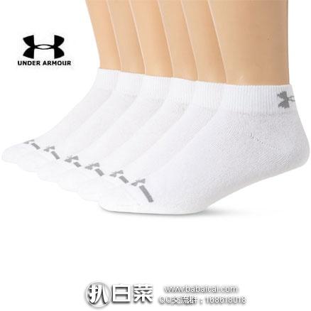 亚马逊海外购:Under Armour 安德玛 男士低帮棉袜 M码 6双装 特价¥78.92,凑单免费直邮,含税到手¥88