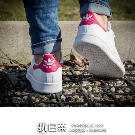 Amazon:Adidas 阿迪达斯 三叶草 大童款 玫红粉尾 $46.36或更低,到手约¥383