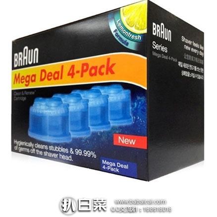 亚马逊海外购:Braun 博朗 CCR4 电动剃须刀清洁液四盒装 下单2件实付¥248包邮包税,折合¥124/件