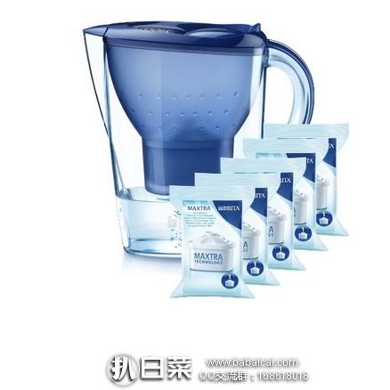亚马逊中国:Brita 碧然德 Marella 滤水壶套装 XL 3.5L 一壶五芯 限时秒杀价¥239包邮