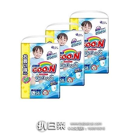 日本亚马逊:GOO.N大王 男女宝宝 拉拉裤 L58*3袋(9~14kg) 额外7折优惠
