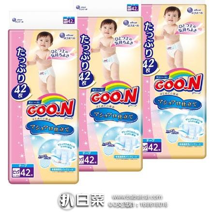日本亚马逊:GOO.N 大王 棉花糖 尿不湿/纸尿裤XL42*3包(共126片) 补货好价4480日元,买2组银联卡用码减1500日元,实付3730日元/组(¥219)降至4877日元(¥302)    好价!