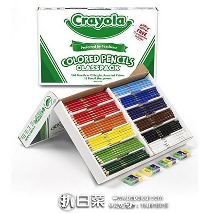 亚马逊海外购:Crayola绘儿乐 12色彩色铅笔套装 240支+削笔器 特价¥173.09,凑单直邮免运费,含税单到手约¥198