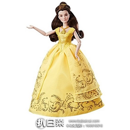 亚马逊海外购:Disney 迪士尼 美女与野兽Belle玩偶 特价促销,凑单直邮免运费,到手很划算