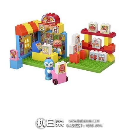 日本亚马逊:BANDAI 万代面 包超人Pinocchio 超市场景 桶装拼插益智积木 特价2218日元(¥140)