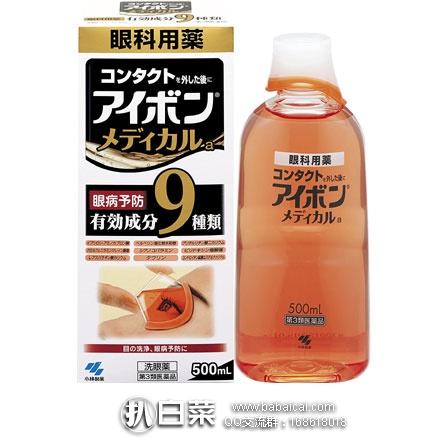 日本亚马逊: KOBAYASHI 小林洗眼液 保护角膜 预防炎症 缓解疲劳 500ml 黑9款 特价991日元(¥57)