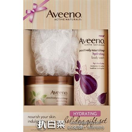 亚马逊海外购:Aveeno 艾维诺 保湿礼盒装 降至¥69.16,凑单免费直邮,含税到手¥77