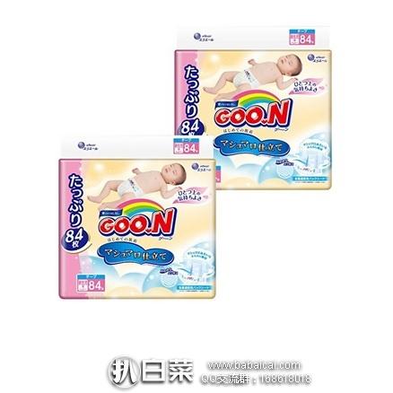 日本亚马逊:GOO.N 大王 棉花糖纸尿裤 NB码84片*2包均特价3813日元,用券8折实付3050日元(¥185)