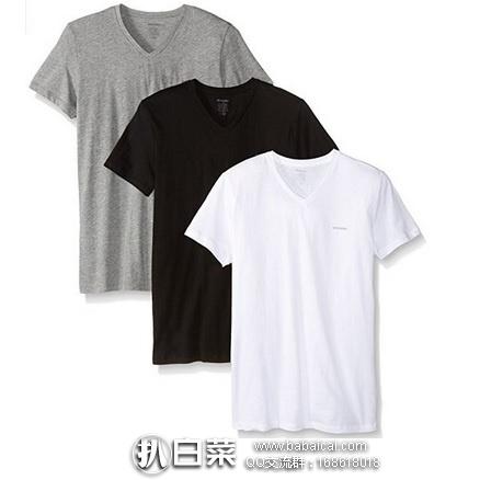 Amazon:意大利Diesel迪赛 Essentials男士V领短袖T恤 3件套 特价$20.45,到手约¥53/件,非常便宜