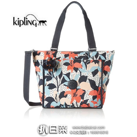 亚马逊海外购:Kipling 吉普林 New Shopper 女士 印花撞包单肩手提包 现特价¥265.55,直邮免运费,含税到手¥297