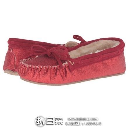6pm:Minnetonka 迷你唐卡 Glitter Cally Slipper 女款山羊皮休闲鞋 历史新低$14.99,到手约¥170