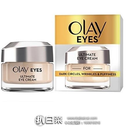 亚马逊海外购:Olay玉兰油多效优越眼部精华霜15ml 特价¥118.36,凑单直邮免运费,含税到手¥132