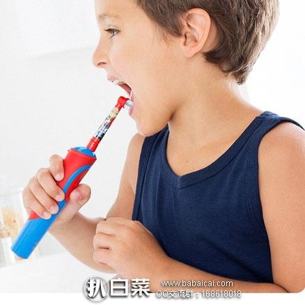 亚马逊海外购:Braun 博朗 Oral-B 儿童充电式电动牙刷 降至¥104.55,凑单直邮免运费,含税到手¥116