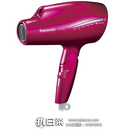 日本亚马逊:Panasonic 松下 EH-NA58 纳米双重离子保湿电吹风机 EH-NA98-W 现12980日元,62开头银联信用卡用码减1500实付11480日元(¥673)