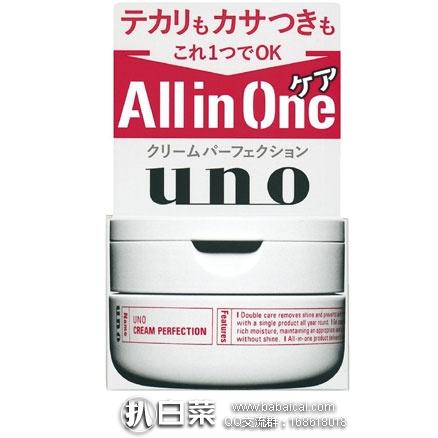 日本亚马逊:资生堂 UNO 吾诺 男士 多效全能保湿面霜 90g  降至低价623日元(约¥39)