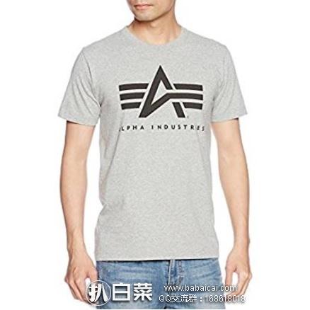 亚马逊海外购:Alpha Industries 阿尔法 男士纯棉T恤 特价¥100.67,凑单直邮免运费,含税到手仅¥113