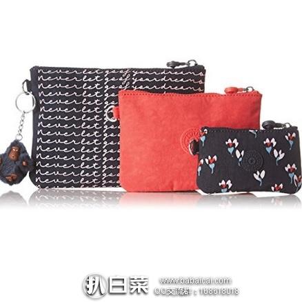 亚马逊海外购:Kipling 吉普林 IAKA 女士手拿包3件套 特价¥106.04,凑单直邮免运费,含税到手¥119