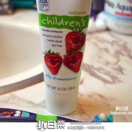 亚马逊海外购:Tom's of Maine 儿童草莓味防蛀含氟牙膏119g*3支 补货售价¥80.16,凑单直邮免运,到手¥87