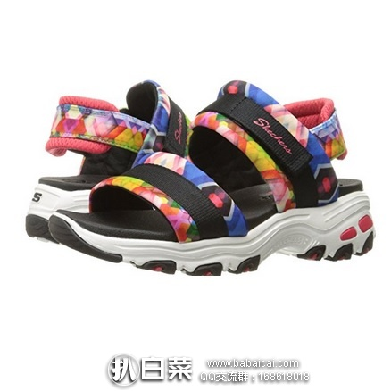 亚马逊海外购:Skechers 斯凯奇 D'Lites 女士凉鞋 降至184.24,凑单直邮免运费,含税到手仅¥206