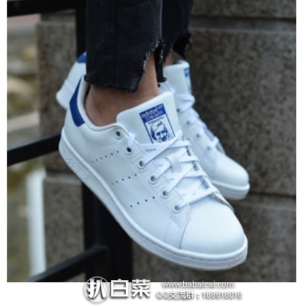 Amazon:Adidas 阿迪达斯 三叶草 小童中童款 蓝尾 历史新低$20,到手仅¥190