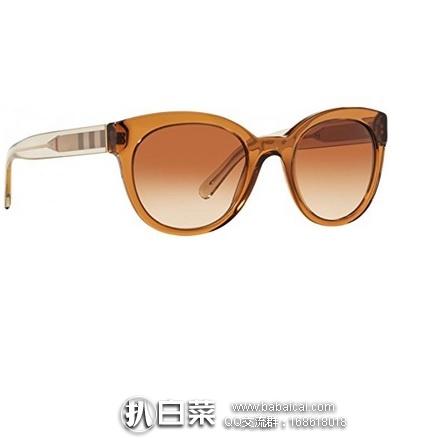 亚马逊海外购:Burberry 巴宝莉 中性款时尚太阳镜 特价¥499.6,直邮免运费,含税到手历史新低¥650