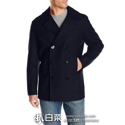 亚马逊海外购:Nautica 诺帝卡 男士麦尔登双排扣 羊毛大衣 特价¥259.6,直邮免运费,含税到手¥291