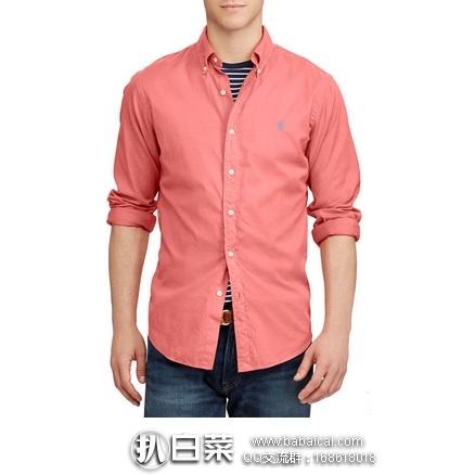 Spring:Ralph Lauren 拉夫劳伦 男士Standard Fit 标准版型修身纯棉衬衫 3折特价$29.99,公码8折实付新低$23.99,到手仅¥195