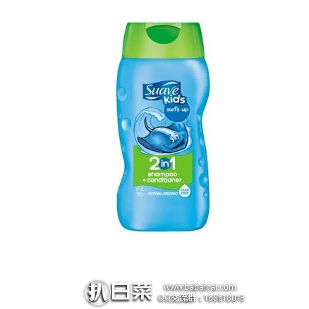 亚马逊海外购:Suave 丝华芙 儿童洗发护发二合一 355ml*6瓶 装 现¥74.58,凑单直邮免运费,含税到手¥14/瓶!