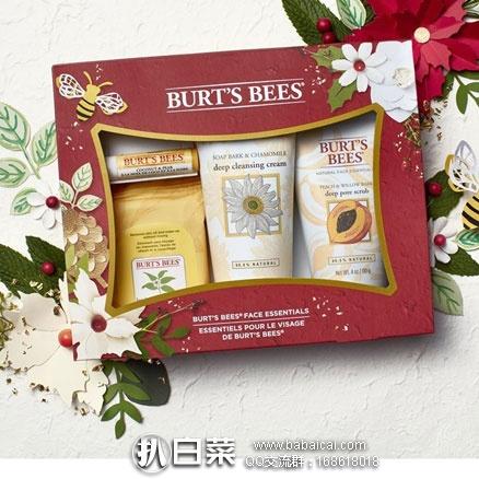 亚马逊海外购:Burt's Bees 小蜜蜂 面部节日礼盒4件装 现售价¥99.37,凑单直邮免运费,含税到手¥111
