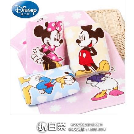 天猫商城:Disney 迪士尼 米妮米奇纯棉割绒儿童毛巾4条 特价¥39.9,领券减¥10实付¥29.9包邮