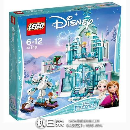 日本亚马逊:LEGO 乐高 迪士尼公主系列 41148 艾莎的魔法冰雪城堡(共含701颗粒) 折后低至5612日元(约¥346)