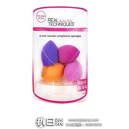 亚马逊海外购:Real Techniques mini美妆蛋 4只装 降至¥51.81,凑单直邮免运费,含税到手仅¥58