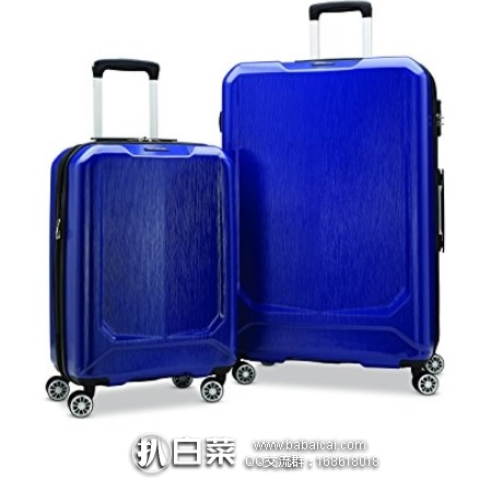 Amazon:Samsonite Duraflex 新秀丽 硬壳仿碳纤维行李箱套装 20寸+28寸 原价$450,现特价$147.47,直邮运费+关税仅$36.75,到手仅¥1220