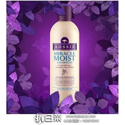 亚马逊海外购:Aussie 袋鼠 奇迹水润保湿洗发水300ml*6瓶 降至¥129.2,凑单直邮免运费,含税到手¥24/瓶