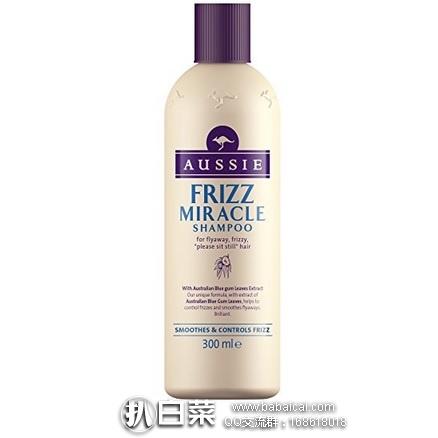 亚马逊海外购:Aussie 袋鼠 Frizz 奇迹洗发水300ml*3瓶 降至¥64.45,凑单直邮免运费,含税到手历史新低合¥24/瓶