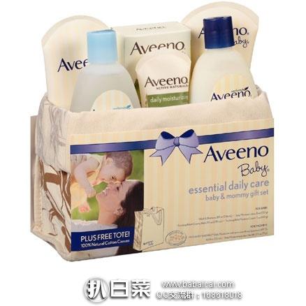 亚马逊海外购:Aveeno 艾维诺 妈妈宝宝日常洗浴护理套装 现¥179,领券4折实付新低¥71.6包邮包税