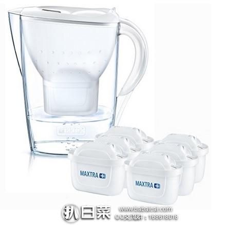 亚马逊海外购:BRITA 碧然德  Marella系列滤水壶 2.4L(1壶6芯) 特价¥235.45,直邮免运费,含税到手仅¥263