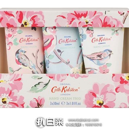 亚马逊海外购:Cath Kidston 植物精华护手霜 30ML*3只套装  降至¥39.51,凑单免费直邮含税到手¥43.11