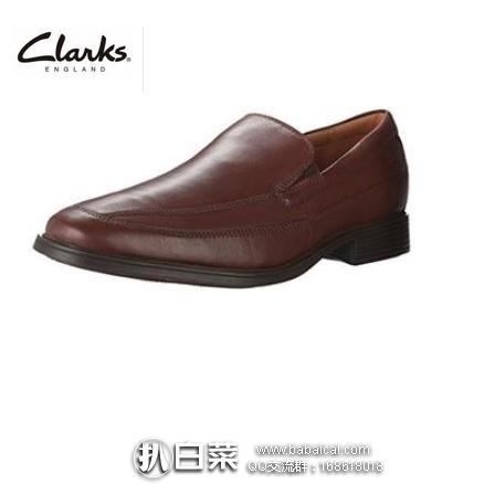 Amazon:Clarks 其乐 Tilden Free 男士真皮一脚蹬休闲鞋 原价$95,现历史新低$28.35,到手仅¥280