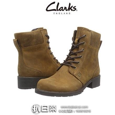 亚马逊海外购:Clarks 其乐 女士真皮系带短靴 特价¥199.83,凑单直邮免运费,含税到手新低¥224