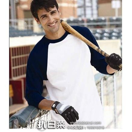 亚马逊海外购:Champion 冠军牌 男士休闲纯棉棒球衫 特价¥48.92,凑单直邮免运费,含税到手仅¥55