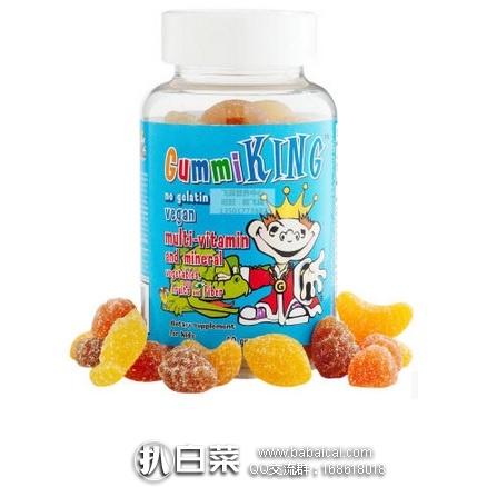 iHerb:Gummi King 儿童多种维生素和矿物质 软糖 小熊糖60粒 现公码95折+3件95折+凑单用码89折和直邮包邮,到手仅¥27/瓶