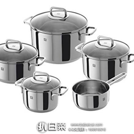亚马逊海外购:Zwilling 双立人 Quadro系列 不锈钢锅具5件套 特价¥839.13,直邮免运费,含税到手¥939