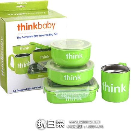 亚马逊中国:Thinkbaby 辛克宝贝 不锈钢儿童餐具4件套(饭盒、汤碗、餐碗、水杯) 特价¥198,领券实付¥178包邮