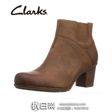 亚马逊海外购:Clarks 其乐 Sashlin Vita女士真皮高跟及踝短靴 特价¥251.46,直邮免运费,含税到手¥281