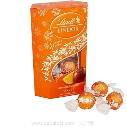 亚马逊海外购:好吃停不下来!Lindt 瑞士莲 松露软心球 牛奶香橙巧克力 200g*2盒 特价¥73.21,凑单直邮免运费,含税到手新低仅¥82