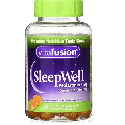 亚马逊海外购:Vitafusion 舒眠软糖60粒*3瓶 特价¥33.54,凑单直邮免运费,含税到手¥149