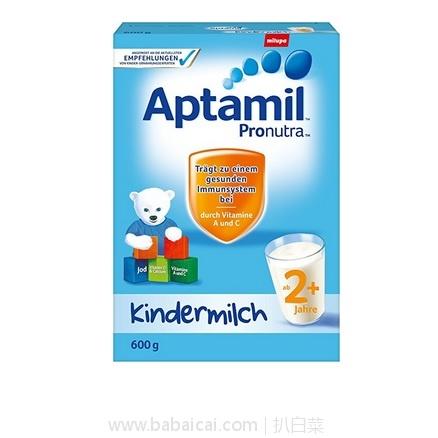 亚马逊海外购:Aptamil爱他美 幼儿配方奶粉2+ 600g*5盒装 特价¥486.99,直邮免运费,含税到手¥109/盒